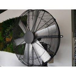 PoleStorm von LBA Home. Oszillierende wandmontierte Windmaschine mit 122 cm Durchmesser, 1100 Watt Leistung. Für 120 m².