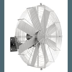 PoleStorm von LBA Home. Oszillierende wandmontierte Windmaschine mit 150cm Durchmesser, 1100 Watt Leistung. Für 190 m².