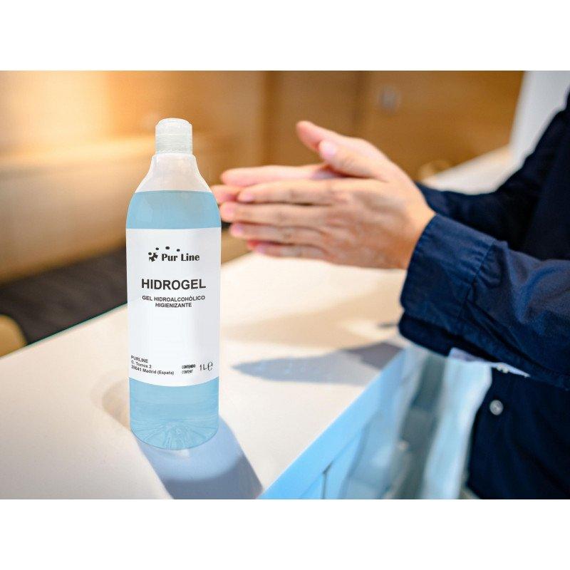 Hydroalkoholisches Gel 1L Behälter.