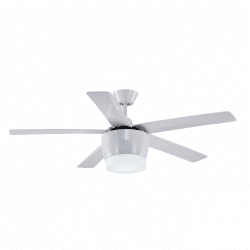 Komodo von LBA Home. 132 cm AC Deckenventilator mit ultrastarke LED-Platte und Fernbedienung, modern, weiß.