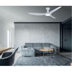 KooKai von LBA Home. 132 cm, DC Deckenventilator, mit LED-Licht, leistungsstark, kompaktes Design, Weiß.