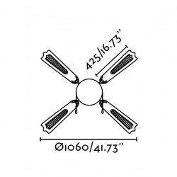 FARO Aruba - Deckenventilator, weiß, klassisch, Licht, 106 cm