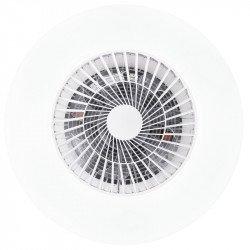 Jet Z von LBA Home. DC Hybridventilator für Decke und/oder Wand mit Licht und Fernbedienung, für kleine Flächen.