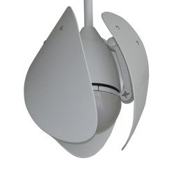 Weißer Drache von LBA Home. DC Deceknventilator mit dimmbares Licht, 106 cm, einziebahre weiße Bambus Flügel, 3-Ton-LED.