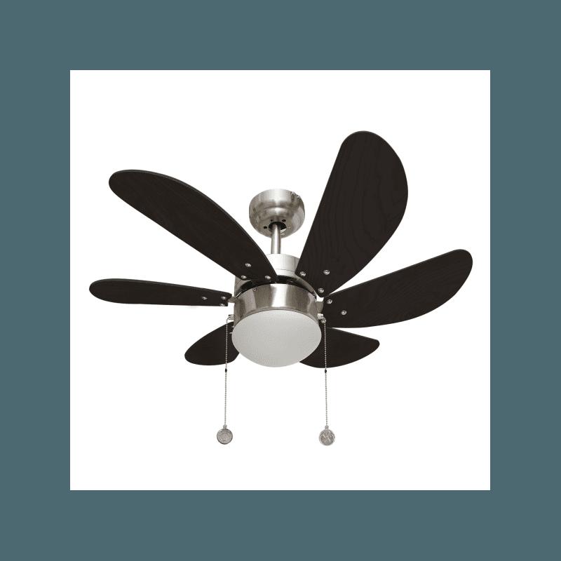 Colores von LBA Home. AC Deckenventilator mit Licht, 75 cm, modern, nicek wenge, für kleine Räume.