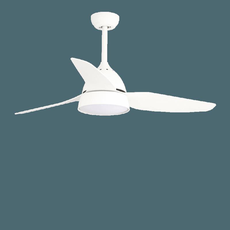 Brise von LBA Home. DC Deckenventilator mit Licht, Intensität und Ton einstellbar, 132 cm, Designer, weiß, für große räume, mit