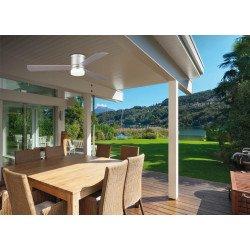 Area von LBA Home. AC Deckenventilator mit LED Licht, für niedrige Decken, 132 cm, mit grauen Flügeln