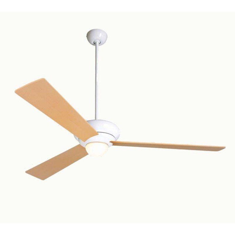 Altus 132Cm - Deckenventilator, Flügel Eiche, weiß glänzend, ideal für Lokale, Hotele, Restaurant, Modern Fan Company