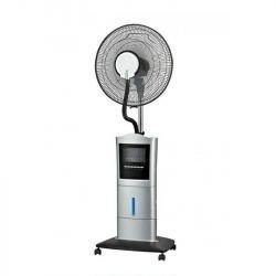 40 cm oszillierende Nebelmaschine mit Fernbedienung, ideal für offene Bereiche.