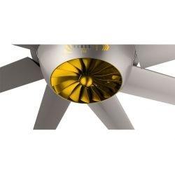 Raptor HVLS RTDC8. 243 cm. DC Motor, hocheffizienter industrieller Deckenventilator. Geringer Stromverbrauch und hohes Luftvolum