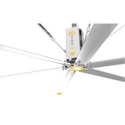 HVLS AC Stator OM-KQ-3E 220V. Industrieller Deckenventilator, 3.7 m, für 630 m² Flachen, Hocheffizienter Design.