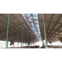 HVLS AC Stator OM-KQ-7E 220V. Industrieller Deckenventilator, 7.3 m, für 1800 m² Flächen, Hocheffizienter Design.