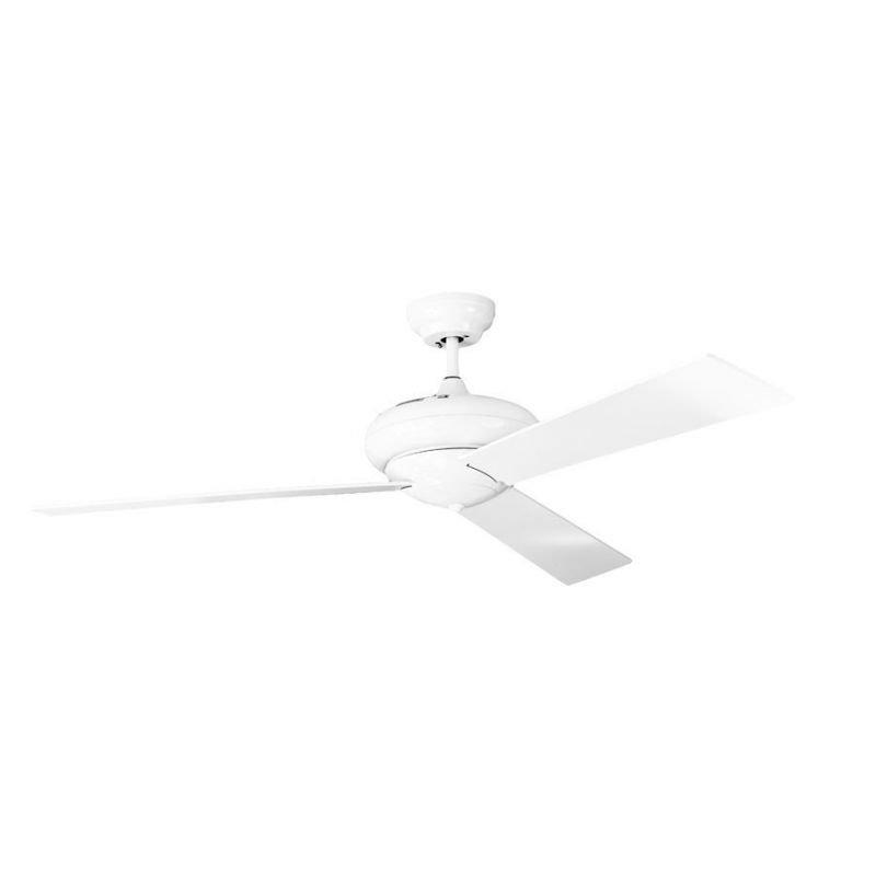 Vaudaire von KlassFan. AC-Deckenventilator, leise, leistungsstark mit Wandsteuerung, 132 cm, weiß.