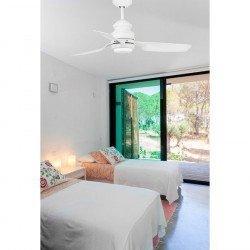Faro Phuket LED - Moderner Deckenventilator, mit LED-Licht, 120 cm, weiß, IR-Fernbedienung