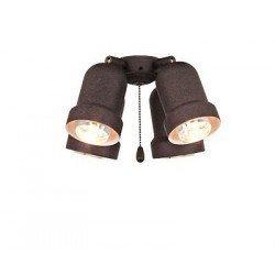 Anbauleuchte für Deckenventilator 4 Lichter, Eco Elements, Karibischer Traum, Satin Stern Royal, Antik Braun