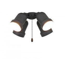 Anbauleuchte für Deckenventilator 4 Lichter, Eco Elements, Karibischer Traum, Satin Stern Royal, Graphit