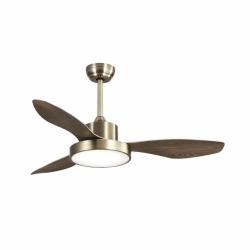Brass Wind - AC Deckenventilator mit LED Licht und Fernbedienung, 120 cm