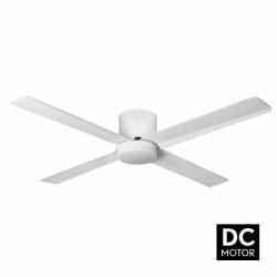 Tiny LT White - DC Deckenventilator mit Licht und Fernbedienung, 132 cm