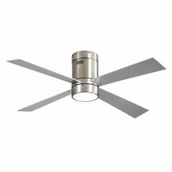 Twist Silver LT - AC Deckenventilator,  122 cm, mit Licht, Fernbedienung und Sommer/Winterbetrieb