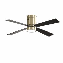 Twist Brass LT - AC Deckenventilator,  122 cm, mit Licht, Fernbedienung und Sommer/Winterbetrieb
