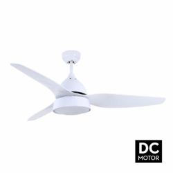 Bell white - DC Deckenventilator im modernen Design, mit Beleuchtung und Fernbedienung, Sommer/Winterbetrieb