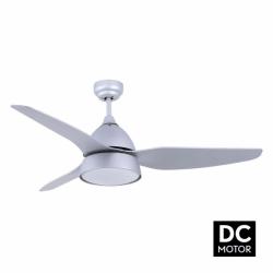 Bell Silver - DC Deckenventilator im modernen Design, mit Beleuchtung und Fernbedienung, Sommer/Wintrerbetrieb
