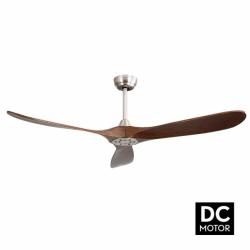 Propiler Dark - eleganter Deckenventilator mit DC Motor und Flügeln aus Naturholz, 132 cm