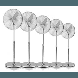 Pali - Set von 5 oszillierenden Standventilatoren, 50W, 44 cm, in grau