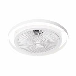 Prospero weiß - Decken- /Wandventilator mit kraftvollem, dimmbarem LED Licht