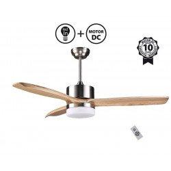 Arime Light II - DC Deckenventilator für Wärmeverteilung und Belüftung, Thermostat, dimmbar, Wi-Fi