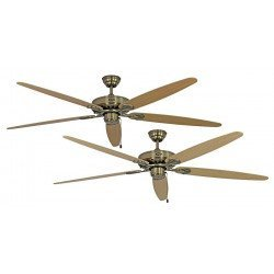 Deckenventilator, MA Royal 180 cm, Messing Antik, Ahorn / Buche, CASAFAN