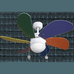 Colores von LBA Home -  AC Deckenventilator mit Licht, 75 cm, für Kinderzimmer