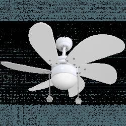 Colores von LBA Home -  AC Deckenventilator mit Licht, 75 cm, für kleine Räume, weiß