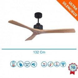 Flatwood - DC Deckenventilator für Wärmerückführung/Belüftung, ohne Licht, mit Thermostat und Fernbedienung, 132 cm