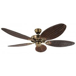 Deckenventilator, Royal MA 132 Cm Klassiker, Messing Antik, Flügel Rattan Antik, CASAFAN