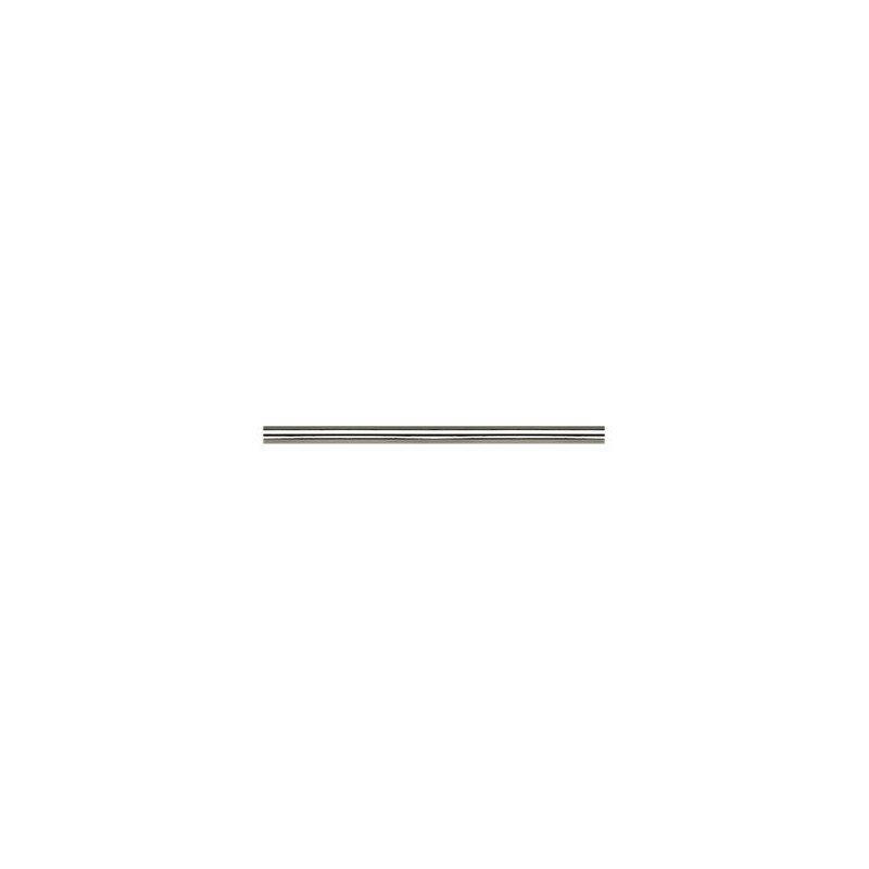 Moderne Deckenventilator Deckenstange, vernickelte Textur, BN, 30,5 Cm