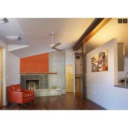 Altus 106 cm- Deckenventilator, silberne Flügel, ideal für Lokale, Hotele, Restaurant, Modern Fan Company