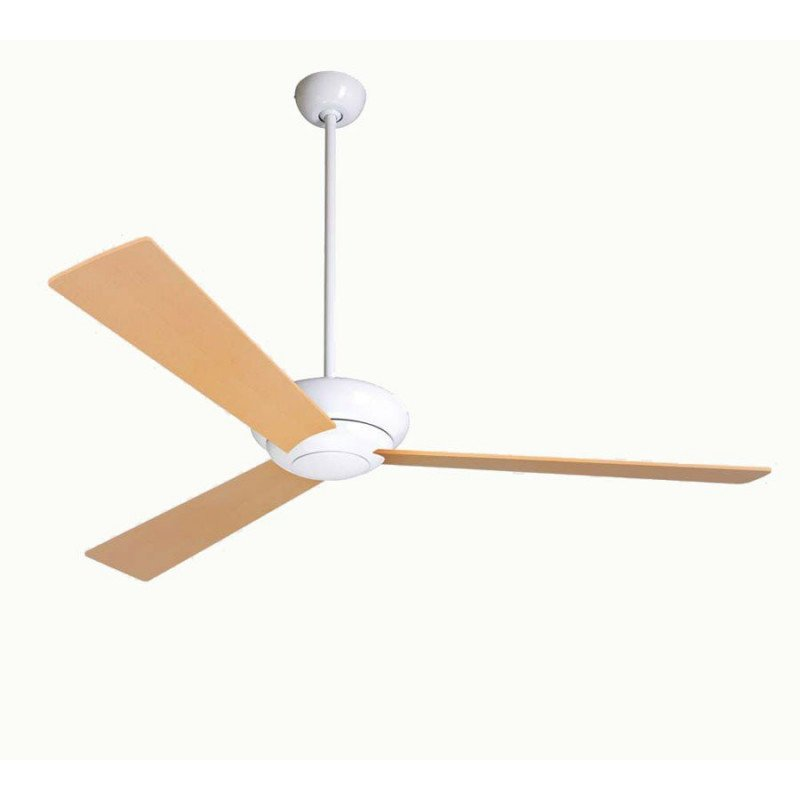 Altus 106 cm- Deckenventilator, glänzend weiß, Flügel Eiche , ideal für Lokale, Hotele, Restaurant, Modern Fan Company