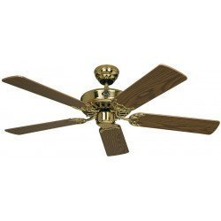 Deckenventilator, Royal MP 132 cm,Messing Polliert, Eiche Antik