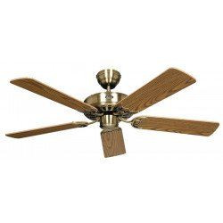 Deckenventilator, Royal MA 132 cm,Messing Antik, Eiche