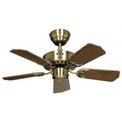 Deckenventilator, ROYAL 75 MA, 75cm, Messing Antik, Eiche Antik