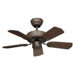 Deckenventilator, ROYAL 75 BA, 75cm, Antik Braun, Nussbaum Flügel