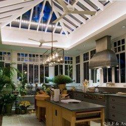 Altus 106 cm- Deckenventilator, Flügel weiß, weiß glänzend, ideal für Lokale, Hotele, Restaurant, Modern Fan Company