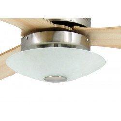 Moderner Deckenventilator 132 cm, mit Licht, Fernbedienung, Ahorn Flügel, ruhiger Lauf