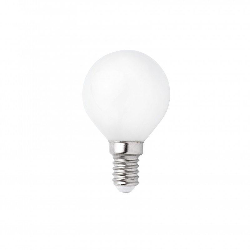 Packung mit 4 LED Leuchtmittel G45 MAT E14 3W 2700K.