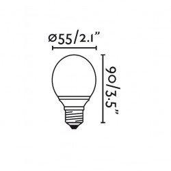 Packung von 4 BALL LED Birnen E27 3W WARM WEISS