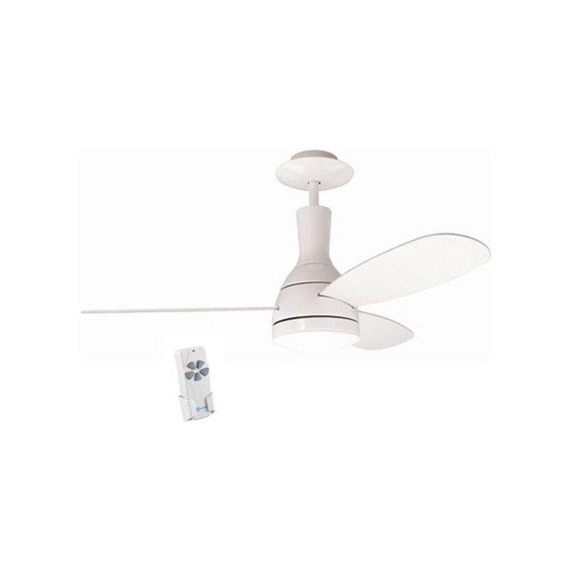 Cluster. Weißer Deckenventilator 122 cm, mit Licht und Fernbedienung