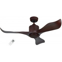 Eco Aviador - Designer Deckenventilator, Nussbaum, 132 Cm, Fernbedienung