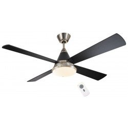 Eco CONO BN- Moderner DC Deckenventilator, 132 cm. Lack Schwarz, Flügel schwarz, Beleuchtung, Fernbedienung