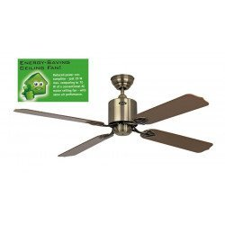 Deckenventilator 132 cm Solar 12V, ideal für eine Solarinstallation Messing Antik